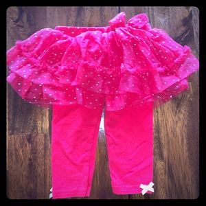 Baby Girl Red Leggings with Tutu